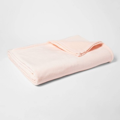 Full/Queen Micromink Bed Blanket Blush Peach - Room Essentials™