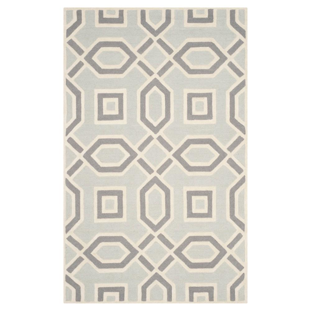 Safavieh Clement Area Rug - Grey / Ivory ( 5' X 8' ), Gray