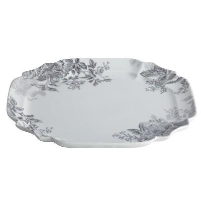 Bonjour Shaded Garden Square Platter (13.25 )