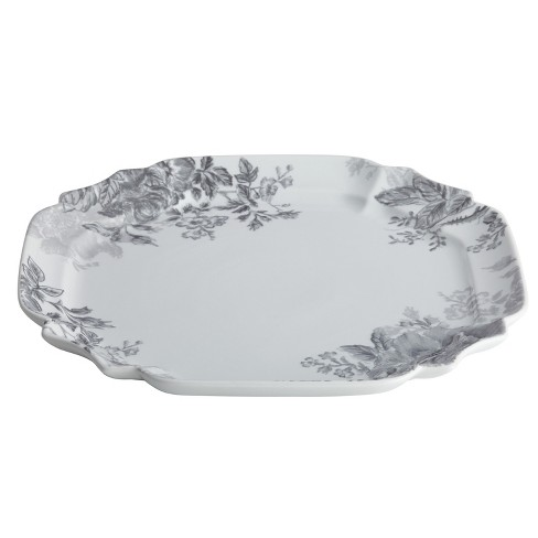 "Bonjour Shaded Garden Square Platter (13.25"") - image 1 of 2"