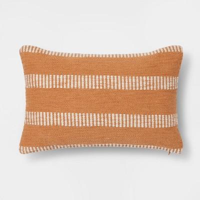 Woven Linework Lumbar Throw Pillow Gold - Threshold™