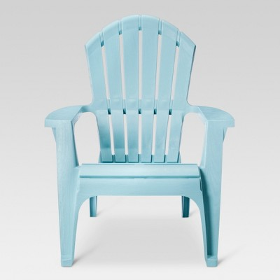 RealComfort Resin Outdoor Adirondack Chair - Blue - Adams Manufacturing