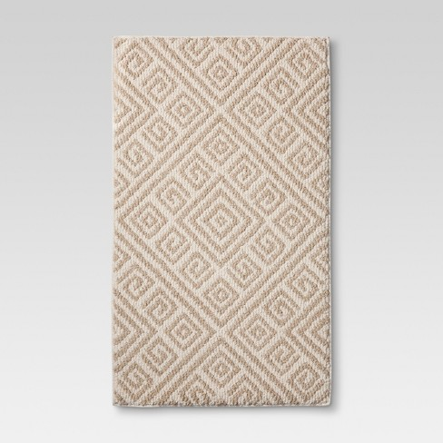 "Classic Ivory Aztec Neutral Kitchen Rug (1'8""X2'10"") - Threshold™ - image 1 of 2"
