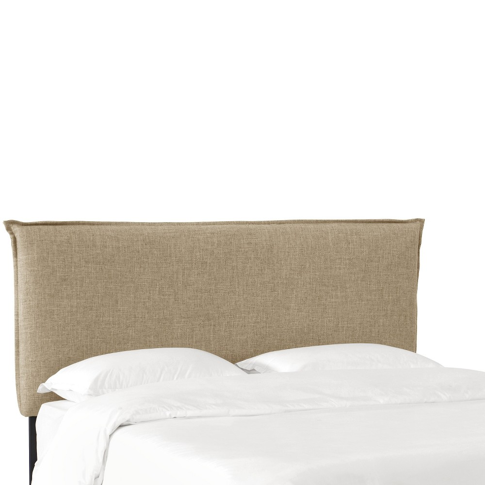 Queen French Slipcover Headboard - Natural Linen - Nate Berkus
