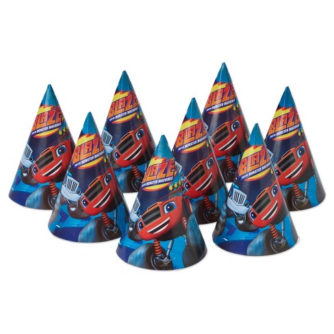 8 ct Party Hats Blaze - image 1 of 2