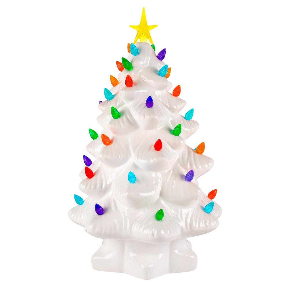 Mr. Christmas Ceramic Christmas Tree Figurine White Large, White 14