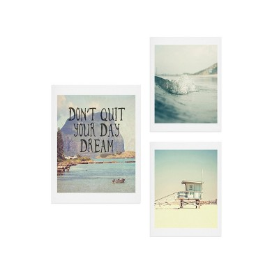 16 x20  Day Dream Gallery Decorative Wall Art Set Blue - Deny Designs