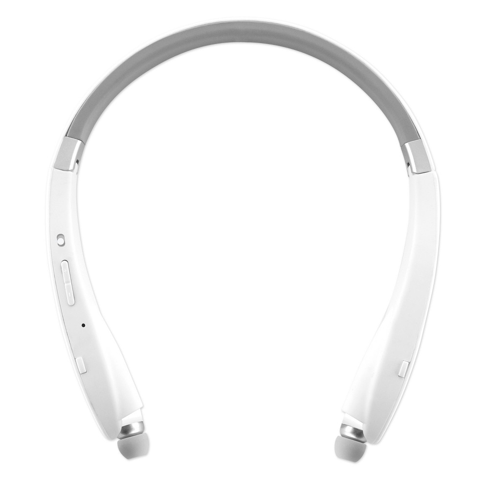 Sentry BT951 Bluetooth Around the Neck Earbuds with Microphone - White