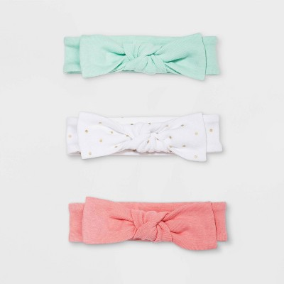 Baby Girls' 3pk Floral Fields Headbands - Cloud Island™ Newborn