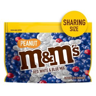 M&Ms Red White and Blue Peanut Chocolate Candies - 10.7oz