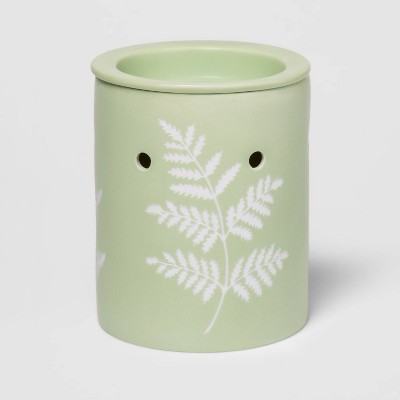 "5.2"" x 4.5"" Porcelain Matte Glaze Wax Warmer Green - Threshold™"