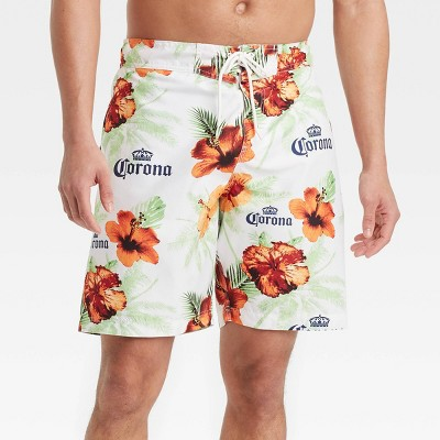 "Men's 8.5"" Corona Swim Trunks - White"