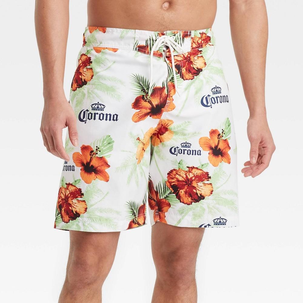Men 39 S 8 5 34 Corona Swim Trunks White M