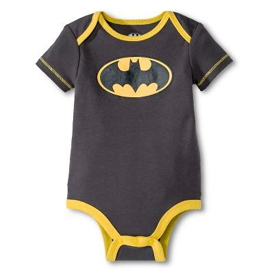 Batman Baby Boys' Bodysuit - Gray Newborn
