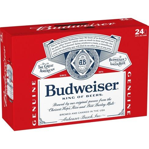 Budweiser Red Crown Tab Beer - 24pk/12 fl oz Cans - image 1 of 3