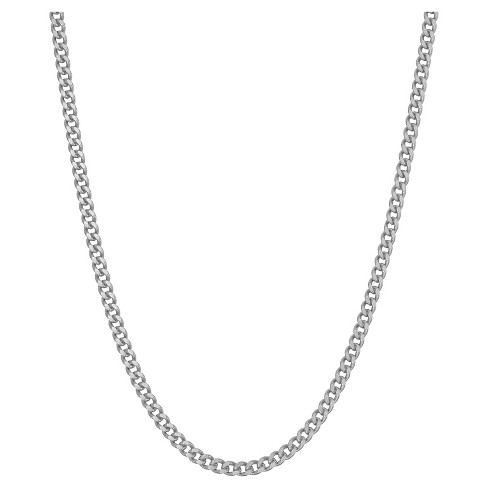 Tiara Sterling Silver Curb Chain Necklace - image 1 of 1