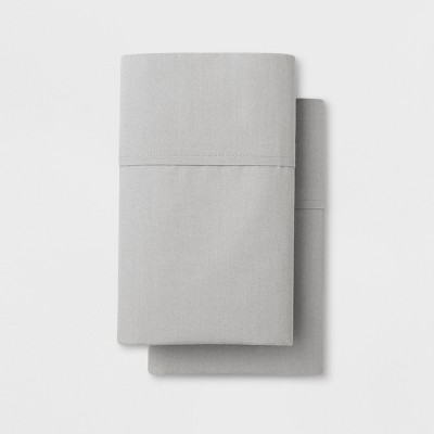 Solid Easy Care Pillowcase Set (King)Light Gray - Made By Design™