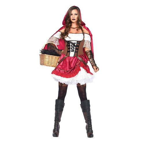 Women's Riding Hood Rebel 2 Piece Costume - image 1 of 1