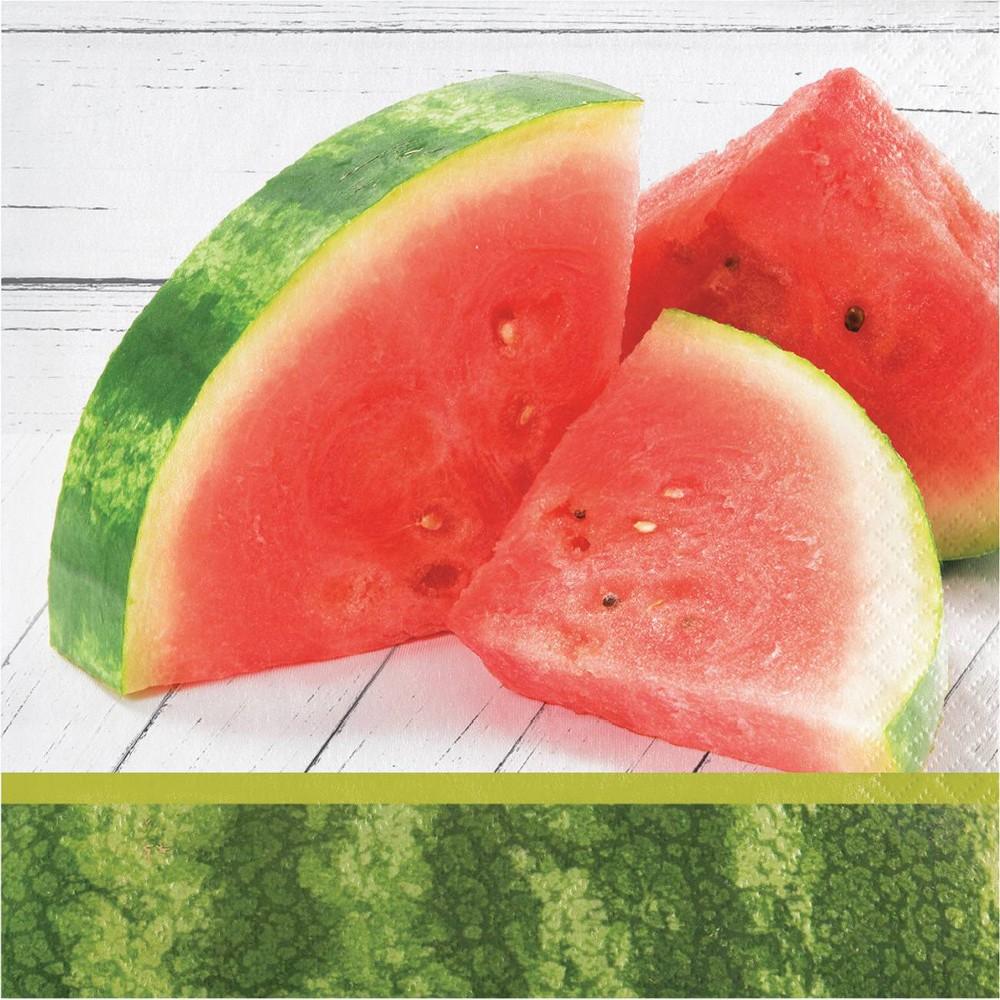 48ct Watermelon Picnic Disposable Napkins