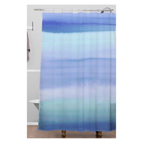Amy Sia Ombre Blue Shower Curtain