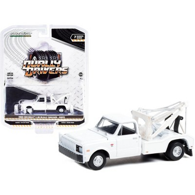 """1968 Chevrolet C-30 Dually Wrecker Tow Truck White """"Dually Drivers"""" Series 7 1/64 Diecast Model Car by Greenlight"""