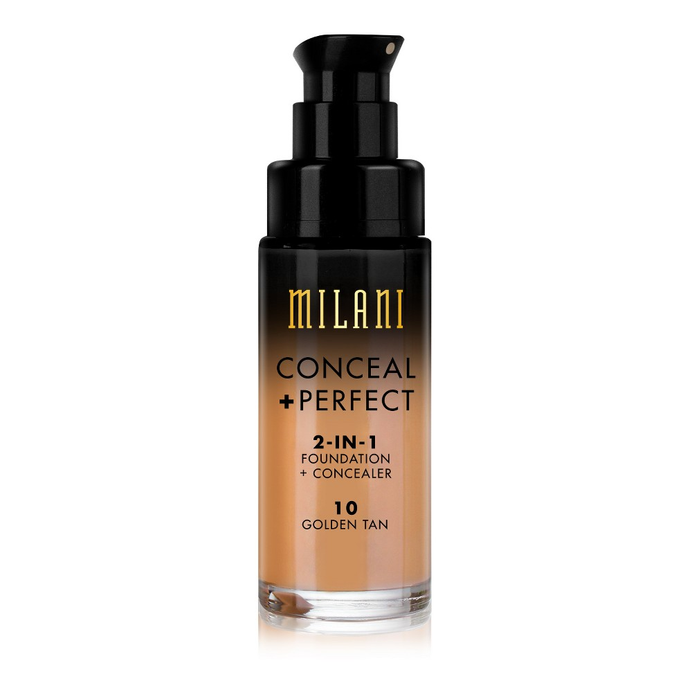 Milani Conceal + Perfect 2-in-1 Foundation 10 Golden Tan - 1 fl oz