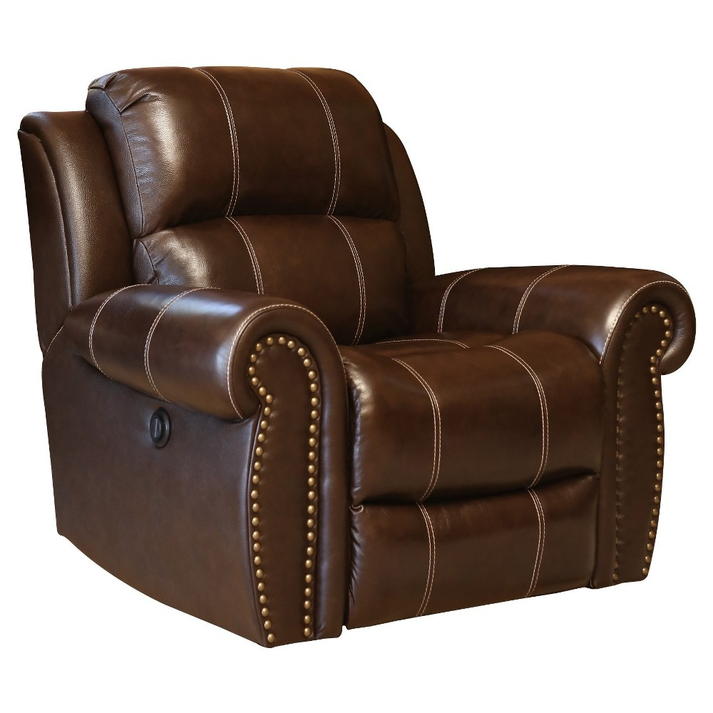 Image of 33 X 45 X 34 Upholstered Chair - Abbyson Living, Brown