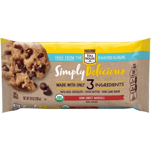 Nestle Toll House Allergen Free Simply Delicious Semi-Sweet Baking Chips - 10oz - image 1 of 4