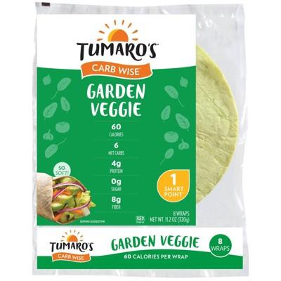 "Tumaro's 8"" Low Carb Garden Veggie Tortillas - 11.2oz/8ct"
