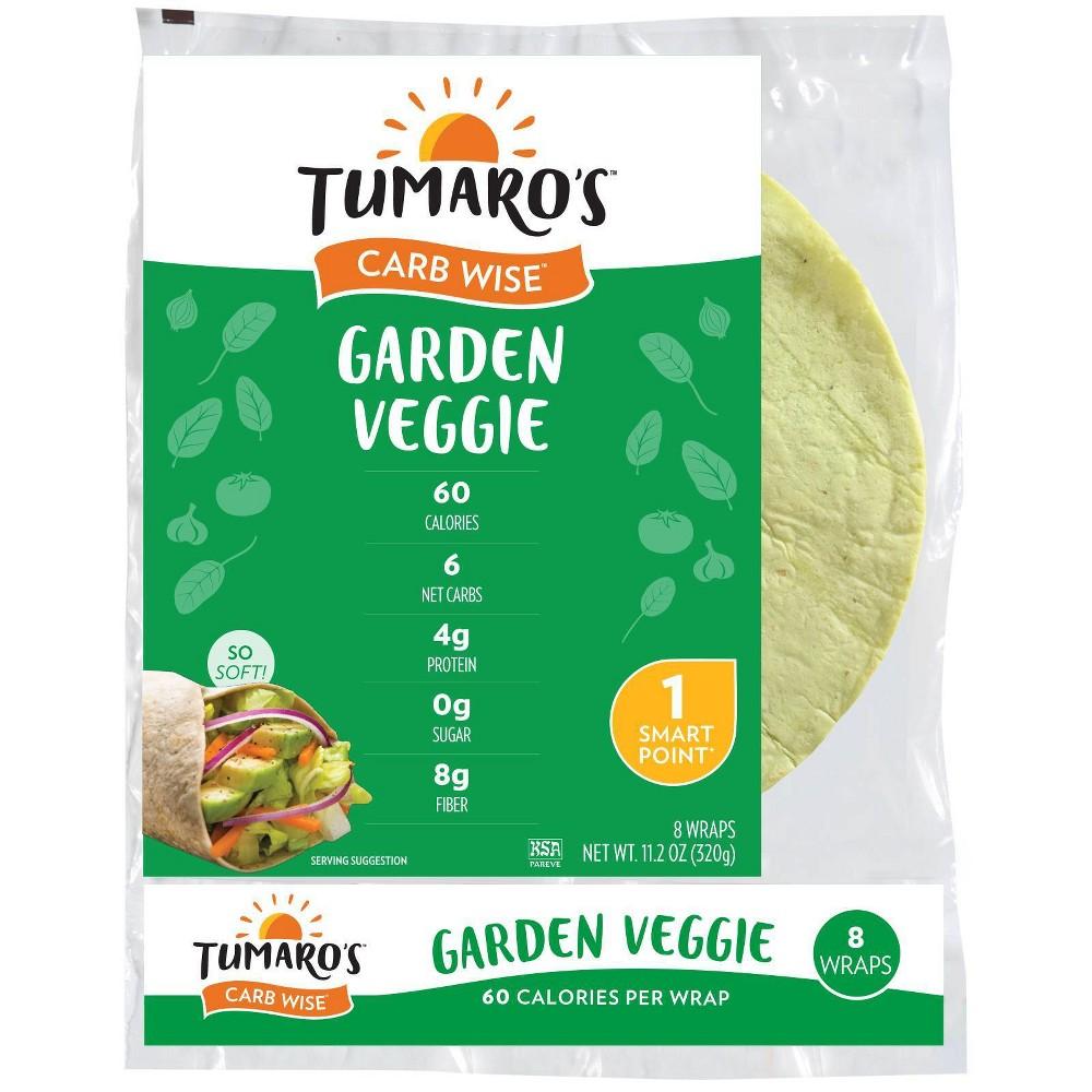 Tumaro's Low Carb Garden Veggie Tortillas - 8-inch