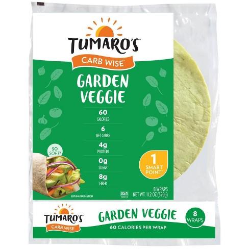 "Tumaro's 8"" Low Carb Garden Veggie Tortillas - 11.2oz/8ct - image 1 of 4"