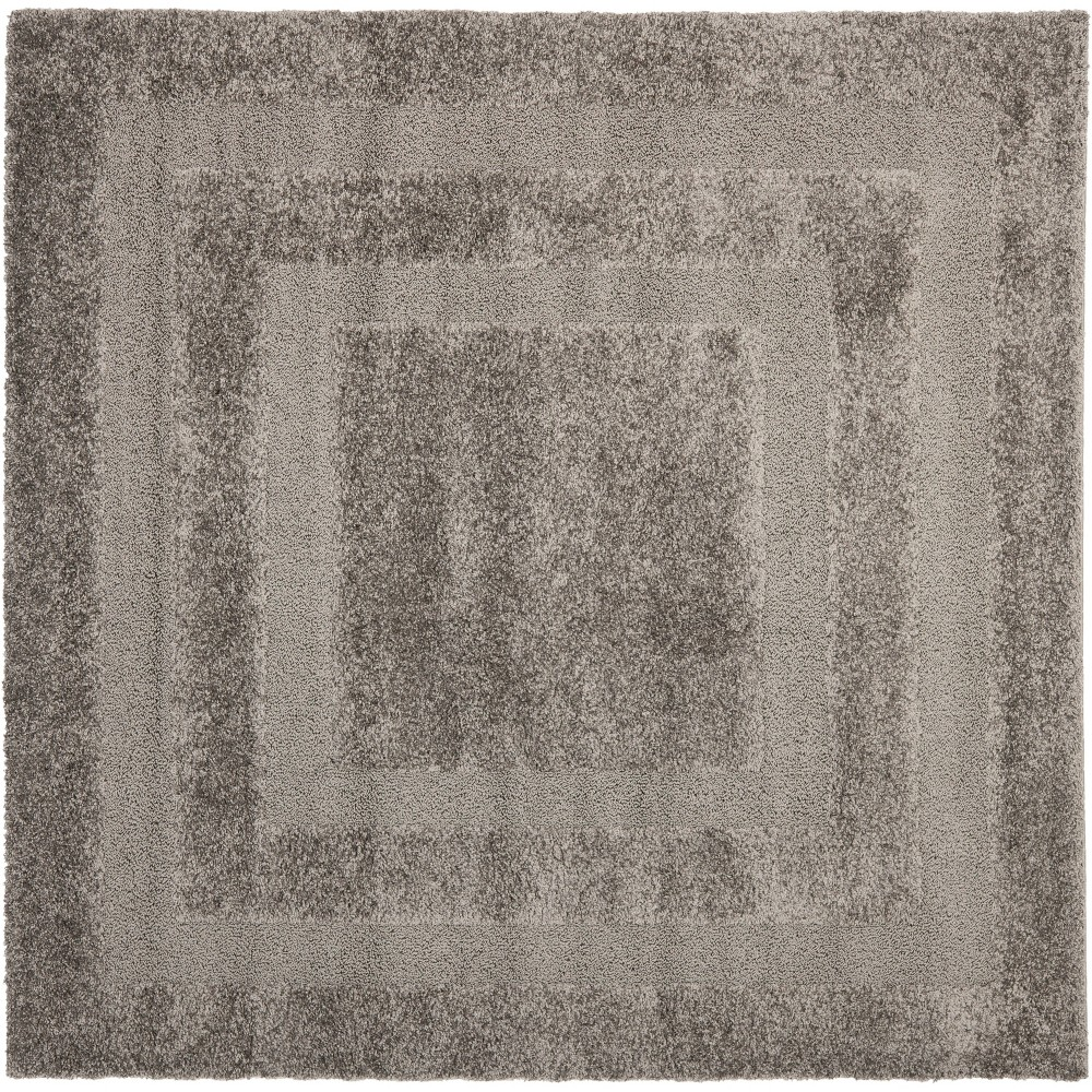 5'X5' Solid Loomed Square Area Rug Gray - Safavieh
