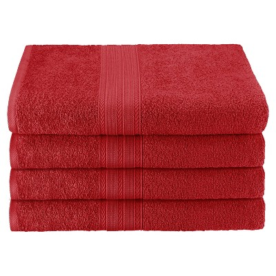Eco-Friendly Ringspun Cotton Modern Absorbent 4-Piece Bath Towel Set - Blue Nile Mills