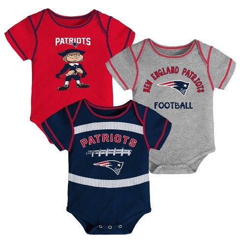 reputable site 07ea8 24022 NFL New England Patriots Baby Boys' Newest Fan 3pk Bodysuit Set - 18M