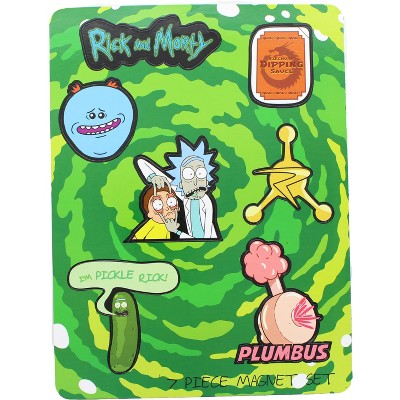 UCC Distributing Rick and Morty 7 Piece Magnet Set