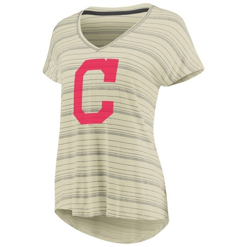 competitive price 318c7 41fd7 Cleveland Indians Women's Starting Strong Cream Versalux T-Shirt - M