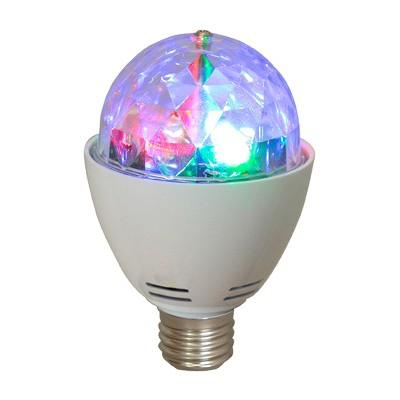 AudioPipe ZYB-13S Zebra Sound LED 5 Volt 1 Watt DC Motor Magic Color Changing Disco Light Bulb Party Light for Home, DJ, and Karaoke Entertainment