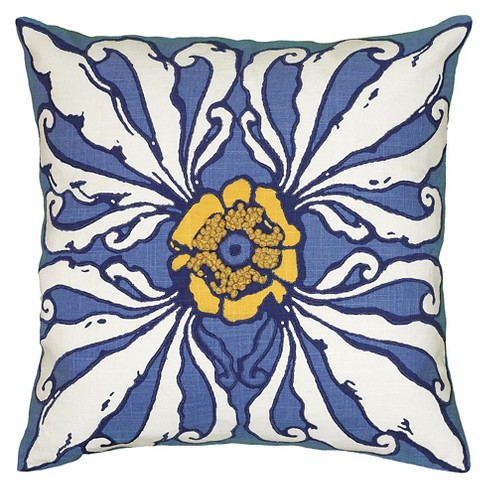 "Blue French Knots Throw Pillow (18""X18"") - Rizzy Home® - image 1 of 1"