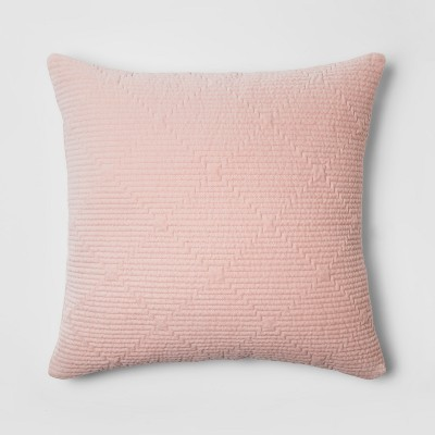 Pink Zipper Velvet Throw Pillow - Project 62™ + Nate Berkus™