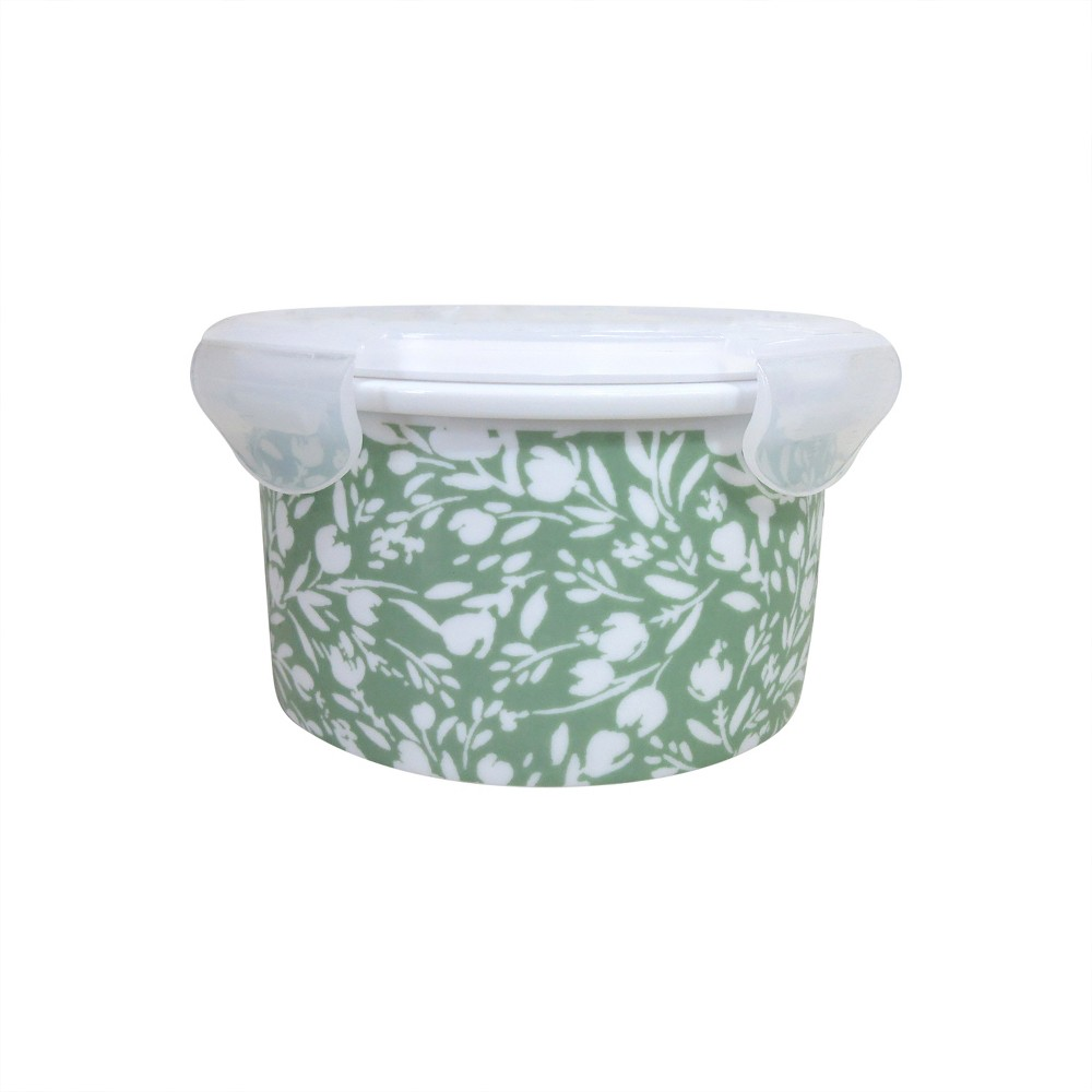 Food Container with plastic lid Green - Threshold