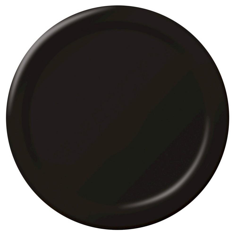 Chocolate Brown 9 Plastic Plates - 20ct