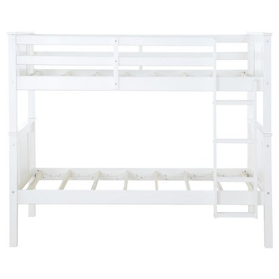 Miller Twin Over Twin Wood Bunk Bed White - Dorel Living