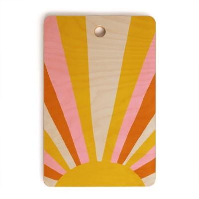 """17"""" Wood Sunshine Canteen Love Cutting Board - society6"""