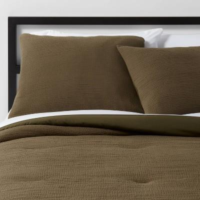 King Micro Texture Comforter & Sham Set Olive - Project 62™ + Nate Berkus™