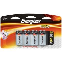 Energizer Max 9V Batteries 4 ct (522BP-4H)
