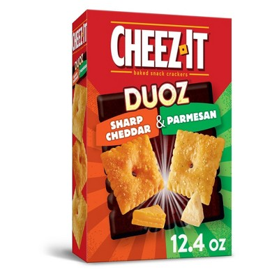 Cheez-It Duoz Sharp Cheddar And Parmesan Baked Snack Crackers 12.4oz