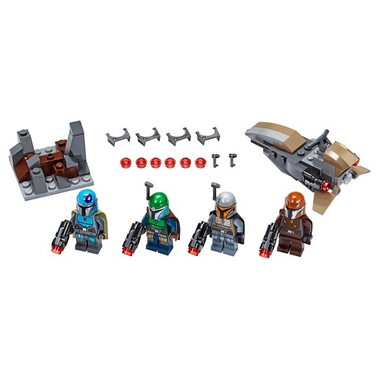 LEGO Star Wars Mandalorian Battle Pack 75267 Shock Troopers and Speeder Bike Building Kit image number null