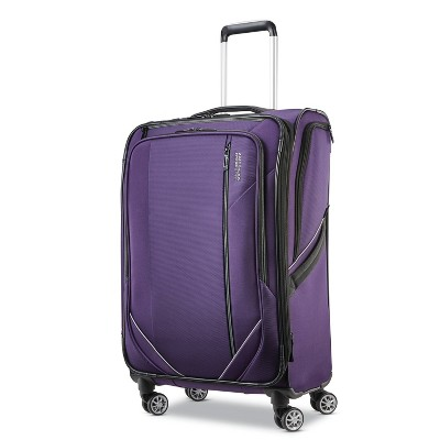 American Tourister 24'' Zoom Turbo Softside Spinner Suitcase - Purple