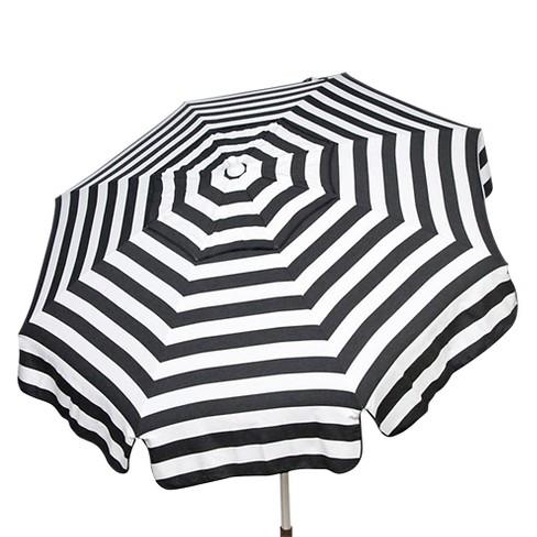6 Italian Aluminum Collar Tilt Bar Height Patio Umbrella Parasol