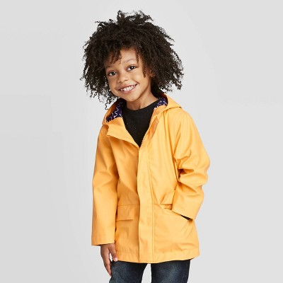 Toddler Boys' Solid Rain Jacket - Cat & Jack™ Yellow 2T